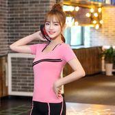 中大尺碼新款春夏季運動T恤女健身上衣透氣速干衣寬鬆修身短袖 QG6948『樂愛居家館』