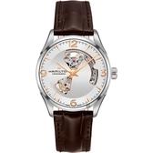 Hamilton 漢米爾頓 JAZZMASTER 爵士開心機械錶-銀x咖啡/42mm H32705551