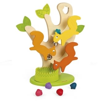 【法國Janod】經典設計木玩-愛吃的松鼠 J08129 /組