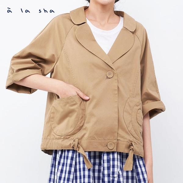 a la sha 阿財風衣式七分袖外套