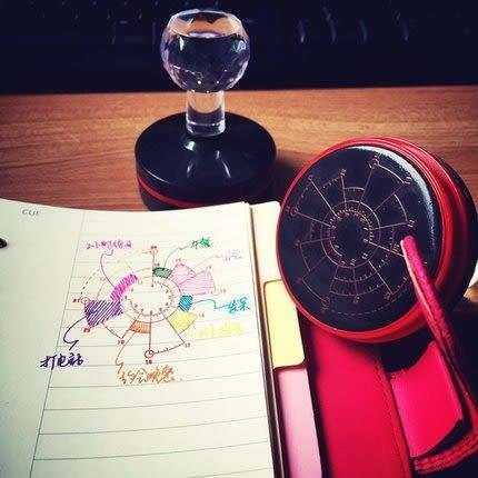 【發現。好貨】韓國文青旅行手帳時間軸印章 熱敏印油章 Chronodex時間餅圖12/24小時