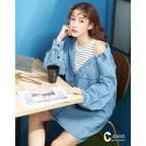 百貨專櫃女裝 露肩衣袖增添造型 拼接創造漸層效果 棉質料舒適親膚