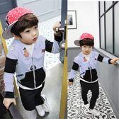 正韓男童中大童3-5-7-9運動休閒純棉兩件套10歲男童潮【驚喜價全館九折】