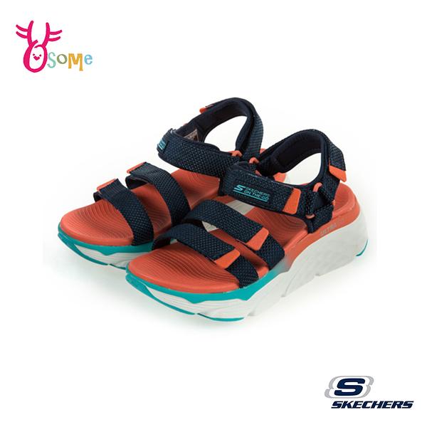 Skechers涼鞋 女涼鞋 運動涼鞋 ON THE GO 健走涼鞋 柔軟Q彈 U8200#黑橘◆OSOME奧森鞋業