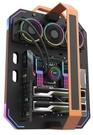 【鼎立資訊 】darkFlash Blade-X開放式機箱-黑橘色(不含風扇)