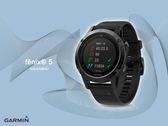 【時間道】GARMIN -預購- ﹡贈原廠替換錶帶﹡fenix® 5 進階複合式戶外GPS腕錶-黑(010-01688-61)免運費