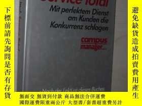 二手書博民逛書店德語原版罕見Service Total von William