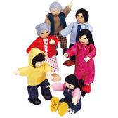 【德國 HAPE 愛傑卡】亞洲人家庭 角色扮演 娃娃屋 居家系列