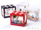 創意DIY小型微景觀生態瓶迷你水族箱造景魚缸辦公室桌面可愛擺件YYP 伊鞋本鋪