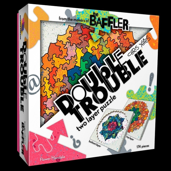【KANGA GAMES】拼圖 曼陀羅花 Baffler Double Trouble - Flower Mandala 174片