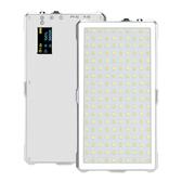 白色 LituFoto 麗能 F18 全金屬鋁身14.9cm*8cm*1.06cm LED燈, 180 顆燈珠  公司貨