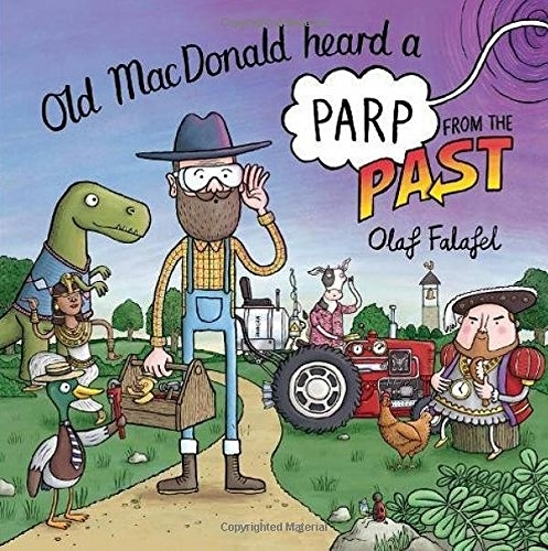 【麥克書店】OLD MACDONALD HEARD A PARP FROM THE PAST /英文繪本 《主題:世界文化》