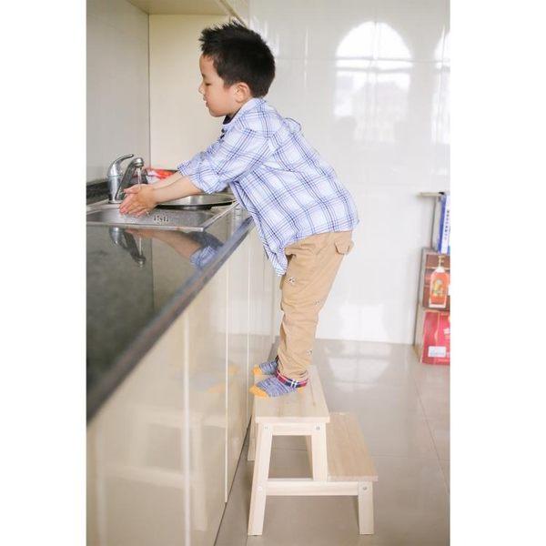 兒童寶寶凳兒童洗手凳實木踏腳凳臺階凳階梯凳墊腳凳成長凳YYS    易家樂