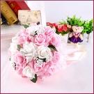 幸福朵朵*【韓式仿真新娘伴娘捧花-粉色心語款】新娘手捧花/婚禮佈置/拍攝婚紗道具/造型裝飾