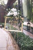 歐式鐵藝油畫架相框架落地支架婚禮迎賓展示架廣告海報架托架婚慶 卡米優品
