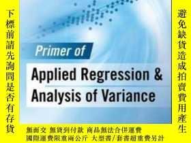 二手書博民逛書店Primer罕見Of Applied Regression & Analysis Of Variance, Thi