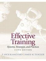二手書博民逛書店 《Effective Training》 R2Y ISBN:9780132729048│P.NickBlanchard