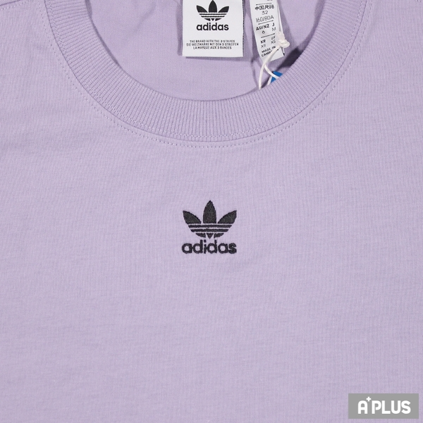 ADIDAS 女 圓領T(短) 刺繡 寬鬆 純棉 紫-GN4782