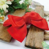 嬰兒髮飾 /日本手工製 / 紅色蝴蝶結髮夾 mimi