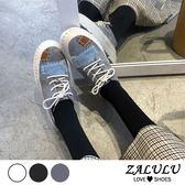 ZALULU愛鞋館 8HE318 預購 軟軟絨面拼布風厚底休閒鞋-灰/米白/黑-35-39