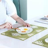 ◄ 生活家精品 ►【N376】田園編織餐桌墊(2入) 布藝 全棉 亞麻布 防滑 隔熱 餐墊 學生 餐布