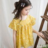 女童碎花短袖T恤 2019夏季款童裝全棉棉質休閒上衣夏天園領 BT1873『寶貝兒童裝』