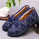 老北京布鞋女棉鞋加絨保暖中老年媽媽鞋軟底防滑平跟棉拖鞋家居鞋豆豆鞋