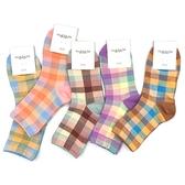 甜點色系粉嫩拚接大格子造型四分襪(1雙入) 款式可選【小三美日】