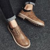 冬季新款正韓男鞋低幫馬丁潮鞋工裝加絨保暖棉鞋休閒皮鞋板鞋
