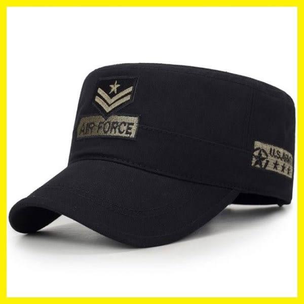 618大促帽子男女士四季戶外防曬遮陽帽時尚平頂鴨舌帽刺繡軍帽迷彩軍迷帽