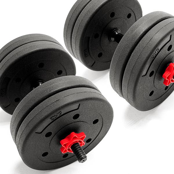 40公斤啞鈴2支短單槓心組合20KG+20公斤另提供30KG槓鈴10另售健腹機器舉重床椅重訓40KG手套