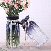 歐式簡約水培玻璃花瓶透明干花插花瓶擺件
