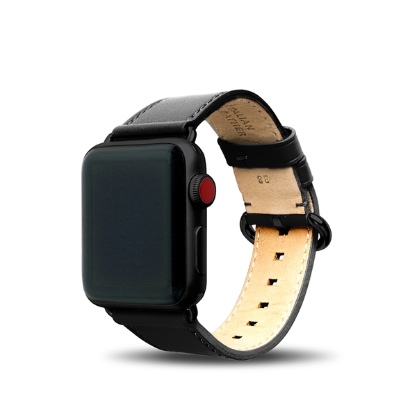 Alto Apple Watch 皮革錶帶 38/40mm - 渡鴉黑 適用於 Apple Watch Series 1-6 & SE