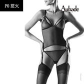 Aubade惹火-綁帶連身BODY衣褲組P086