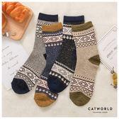 Catworld 民族風配色圖騰針織長襪【18900497】‧F