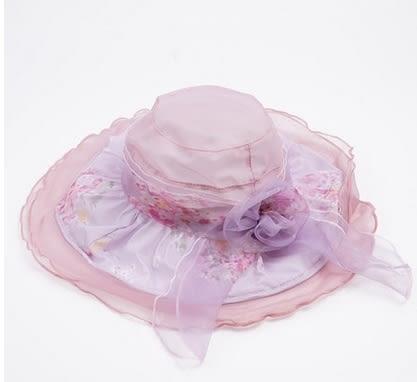 防曬太陽帽韓版百搭遮陽帽可折疊防紫外線帽子   -charle00563