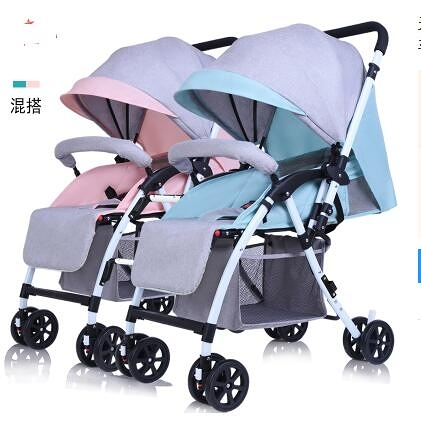 嬰兒推車二胎雙人手推車