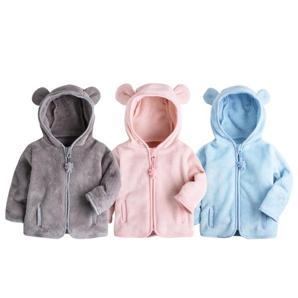 絨毛外套 小熊造型 立體耳朵 保暖外套 寶寶外套 男寶寶 女寶寶 82062