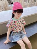 女童上衣 夏裝新款洋氣2-9歲寶寶T恤短袖兒童上衣潮小童韓版
