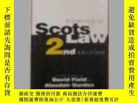 二手書博民逛書店Elements罕見of Scots Law by David