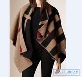 披肩 羊毛針織保暖斗篷大披肩外套圍巾 經典款大衣 HD