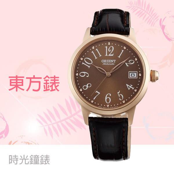 ORIENT 東方錶 機械錶 玫瑰金女錶 FAC06001T 免運
