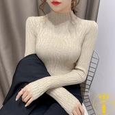 毛衣打底衫女秋冬裝內搭洋氣百搭修緊身針織上衣【雲木雜貨】