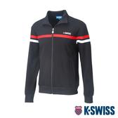 K-SWISS Mock Neck Jacket運動外套-男-黑