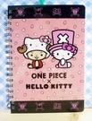 【震撼精品百貨】ONE PIECE&HELLO KITTY_聯名海賊王喬巴&凱蒂貓系列~筆記本-粉櫻花