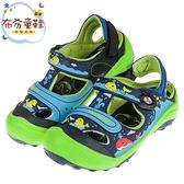《布布童鞋》GP小鯨魚磁扣式藍綠色橡膠兒童護趾涼鞋(16~20公分) [ G9M19BB ]