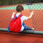 兒童全棉帆布雙肩背包防走失背包1-3-5歲