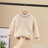 兒童打底衫 2021秋冬款兒童男童寶寶毛衣線衣套頭針織洋氣圓領小童女孩打底衫 薇薇