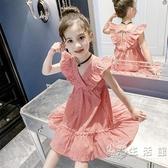 女童夏裝洋裝2020新款兒童裝小女孩吊帶格子裙超洋氣網紅公主裙 小時光生活館