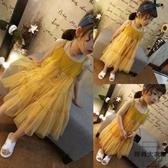 兒童連身裙夏裝女童吊帶裙無袖兒童裙子【時尚大衣櫥】